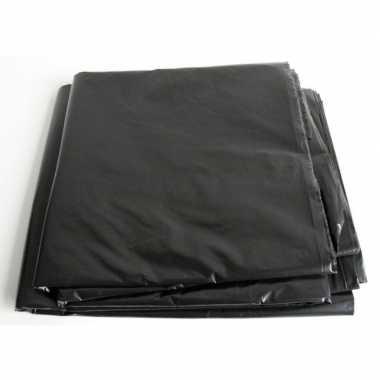 Goedkope zwart afdekzeil / dekzeil meter