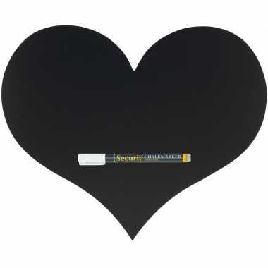 Goedkope zwart hart krijtbord inclusief stift