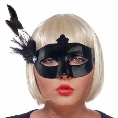 Goedkope zwart oogmasker veren dames