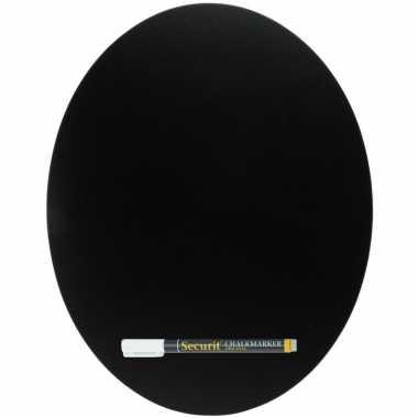 Goedkope zwart ovaal krijtbord inclusief stift