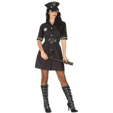 Goedkope zwart politie verkleed jurkje dames
