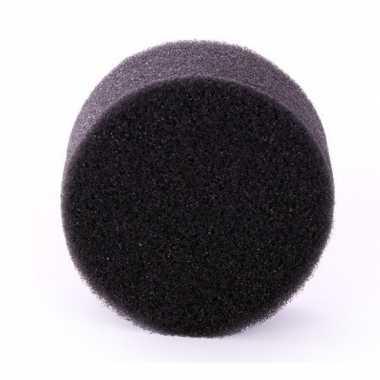 Goedkope zwart schmink / make up sponsje rond