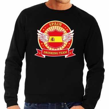 Goedkope zwart spain drinking team sweater heren