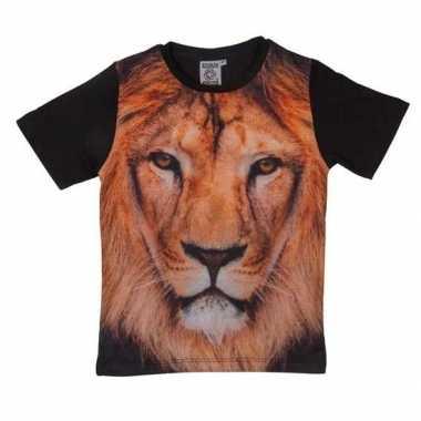 Goedkope zwart t shirt leeuw kinderen