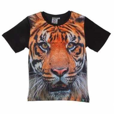 Goedkope zwart t shirt tijger kinderen