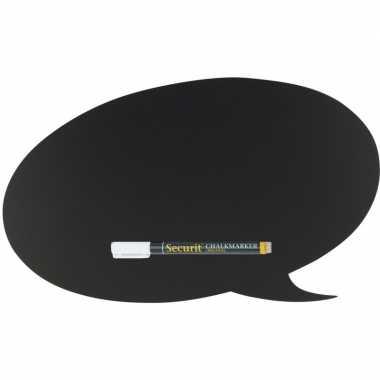 Goedkope zwart tekstwolk krijtbord inclusief stift