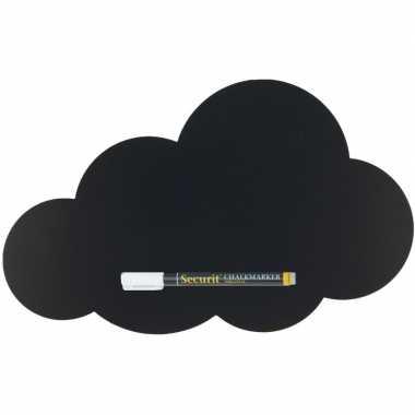 Goedkope zwart wolk krijtbord inclusief stift