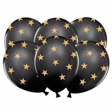 Goedkope zwarte ballonnen gouden sterren stuks