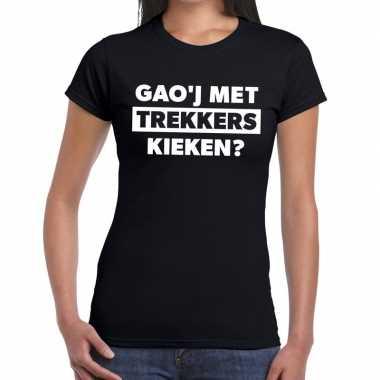 Goedkope zwarte cross gaoj trekkers kieken festival t shirt dames