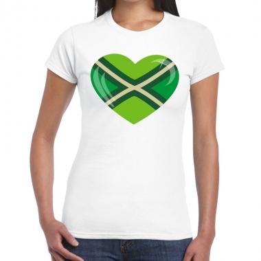 Goedkope zwarte cross i love achterhoek festival t shirt wit dames
