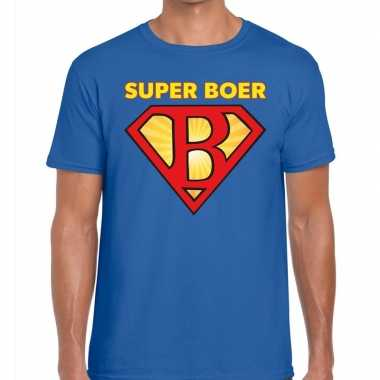 Goedkope zwarte cross super boer festival t shirt blauw heren