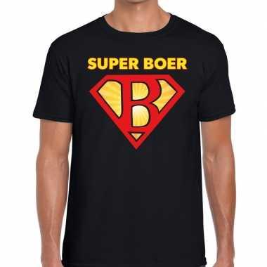 Goedkope zwarte cross super boer festival t shirt zwart heren