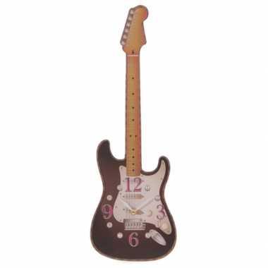 Goedkope zwarte elektrische gitaar klok