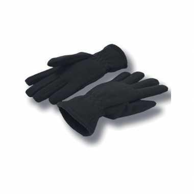 Goedkope zwarte fleece handschoenen volwassenen