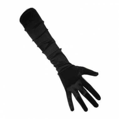 Goedkope zwarte gala handschoenen