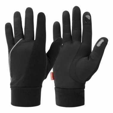 Goedkope zwarte hardloop handschoenen volwassenen