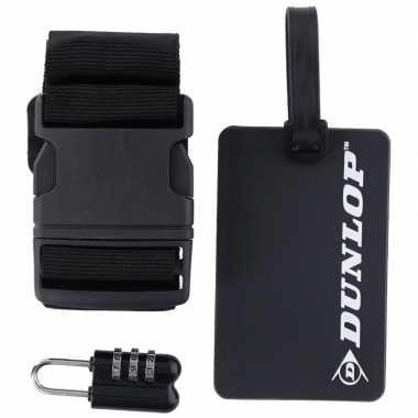 Goedkope zwarte koffer/bagage accessoiresset