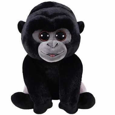 Goedkope zwarte pluche baby gorilla aap/apen knuffel