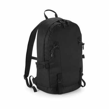 Goedkope zwarte rugzak/rugtas wandelaars/backpackers liter