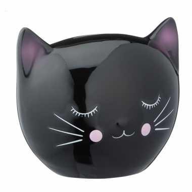 Goedkope zwarte spaarpot kattenhoofd
