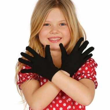 Goedkope zwarte verkleed handschoenen kinderen