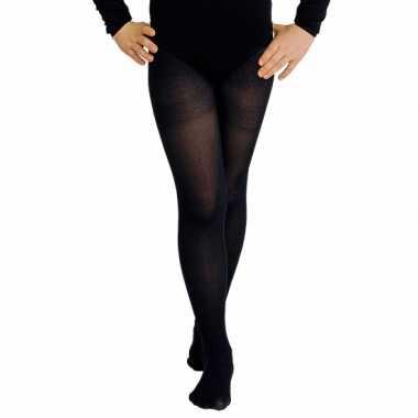 Goedkope zwarte verkleed panty/maillot meisjes/kinderen