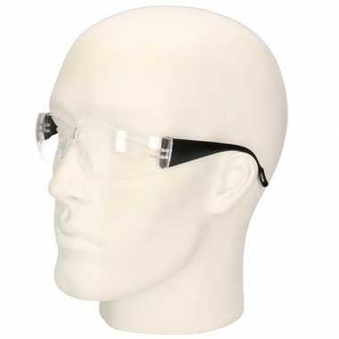 Goedkope zwarte vuurwerkbril/veiligheidsbril kinderen