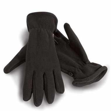 Goedkope zwarte warme fleece handschoenen volwassenen