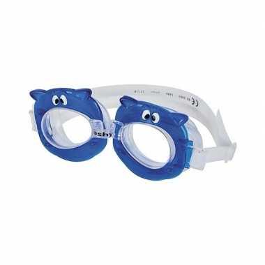 Goedkope zwembril blauw nijlpaard oogjes kinderen