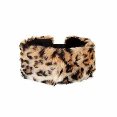 Haarband pluche panter dieren goedkope dames