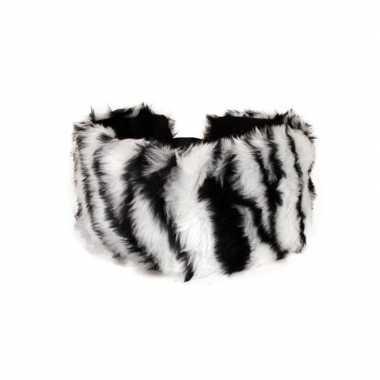 Haarband pluche zebra dieren goedkope dames