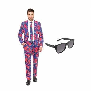 Jaren goedkope heren kostuum maat (s) gratis zonnebril
