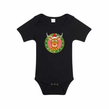 Kerst rompertje rendier rudolf goedkope zwart baby