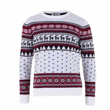 Kersttrui volwassenen nordic goedkope wit