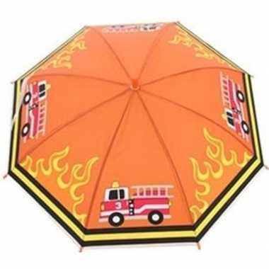 Kinderparaplu brandweerauto goedkope oranje/multi