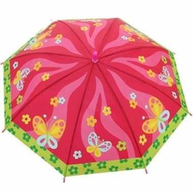 Kinderparaplu vlinders goedkope roze/multi