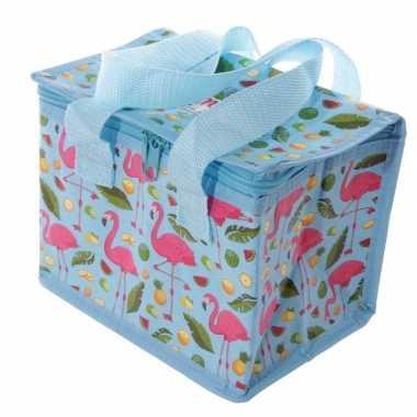 Kleine koeltas flamingo goedkope blauw , liter