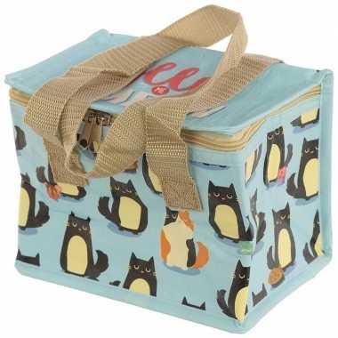 Kleine koeltas kat/poes goedkope blauw , liter