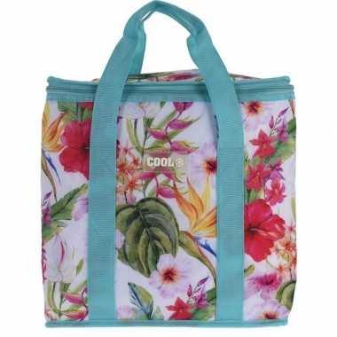 Koeltas hibiscus bloemen goedkope blauw liter