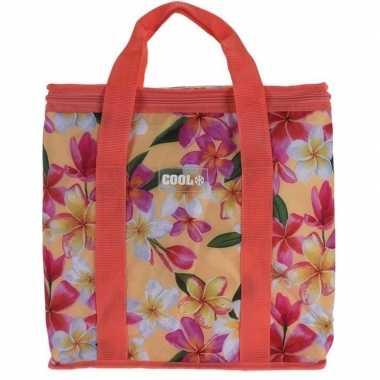 Koeltas hibiscus bloemen goedkope koraal rood liter