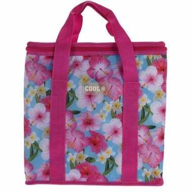 Koeltas hibiscus bloemen goedkope roze liter