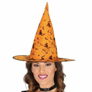 Oranje heksenhoed goedkope dames