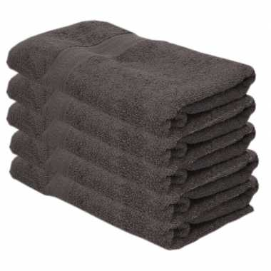X goedkope badhanddoeken grijs grams