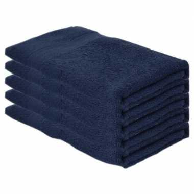 X goedkope badhanddoeken navy blauw grams
