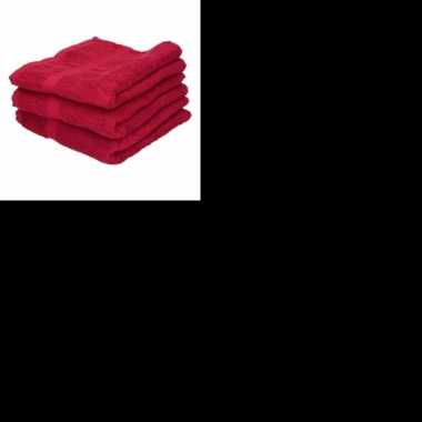 X goedkope badhanddoeken rood grams