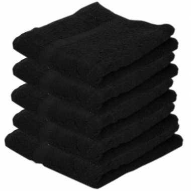 X goedkope badhanddoeken zwart grams