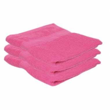 X goedkope handdoeken fuchsia roze grams