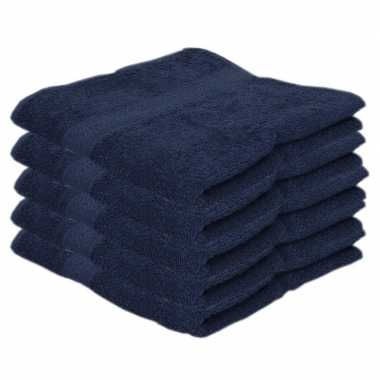 X goedkope handdoeken navy blauw grams