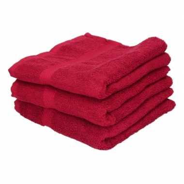 X goedkope handdoeken rood grams