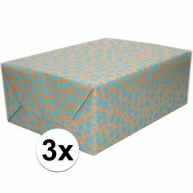 X inpakpapier/cadeaupapier stippen goedkope rol